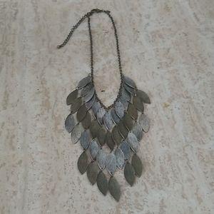 Chico's bronze silver dangle necklace